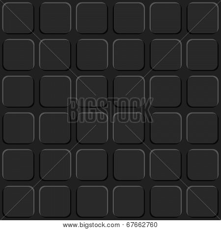 Dark Grey Rounded Squares Seamless