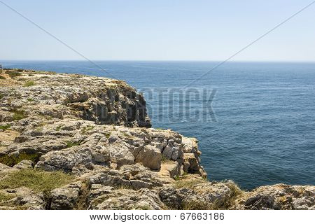 Cliff At Fortaleza De Sagres In Portugal