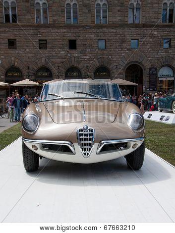 FLORENCE, ITALY - JUNE 15, 2014:  Alfa Romeo Giulietta Spider Bertone