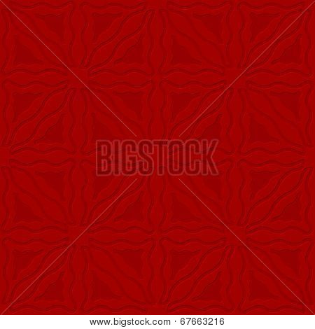 Triangle Wavy Red Embossed Seamless