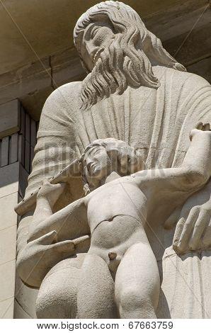 Ariel and Prospero Statue, BBC