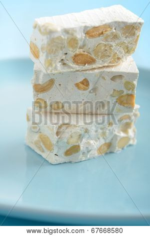 Turron, the traditional Spanish confection with nuts