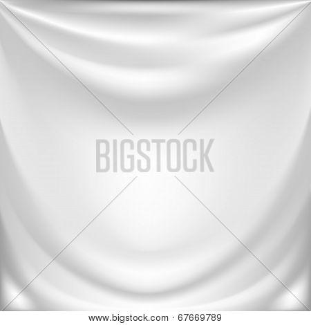 white silk drapery