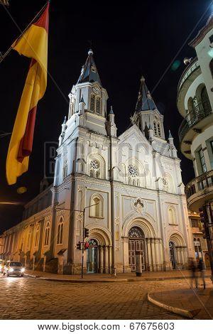 An old church in downtown Cuenca, Ecuador.