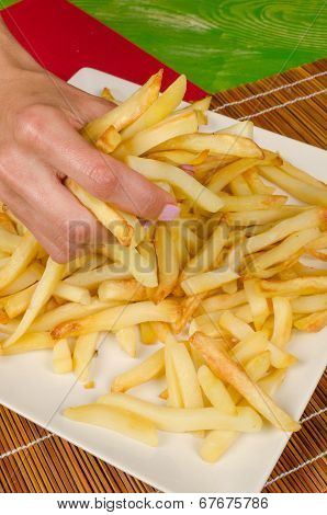 Grabbing French Fries