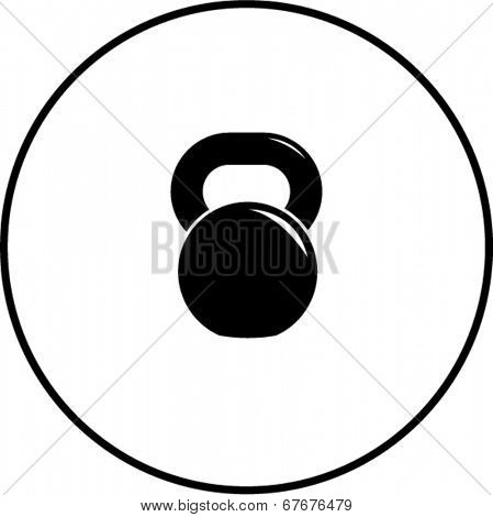 kettlebell exercise device symbol