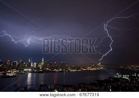 Lightening Over Manhattan