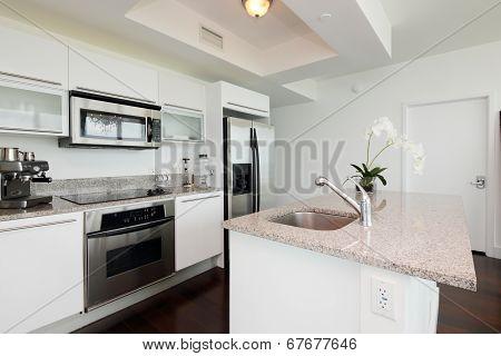 Interior image modern kitchen