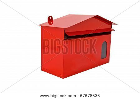 Front Red Mail Box