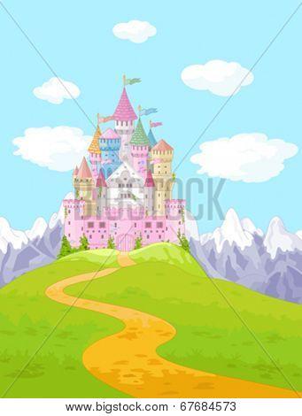 Fairy Tale magic Princess Castle Landscape
