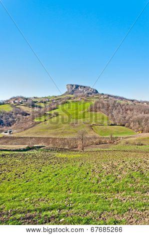 Pietra di Bismantova in Reggio Emilia Apennines - Italy