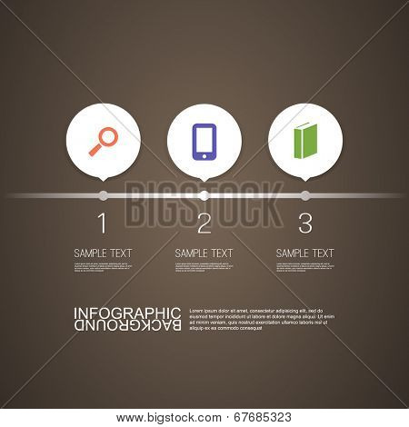 Numbered Circle Infographic Design with Your Text and Icons. Eps 10 Vector Illustration