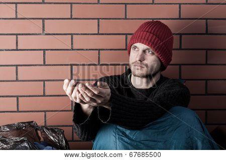 Beggar Living On The Street