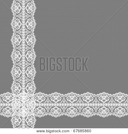 card with lace ribbon