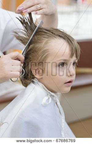 Kid At Barbershop