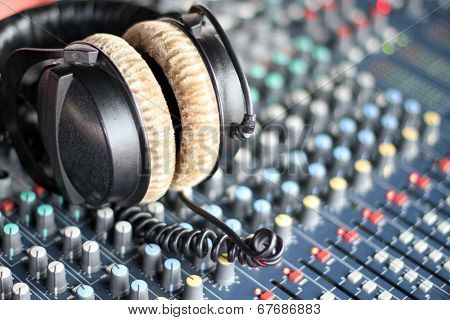 Headphones And Sound Mixer