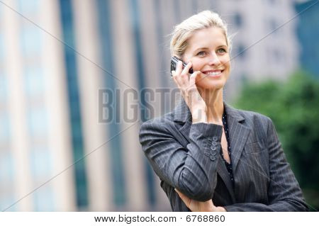Businesswoman with Telefon