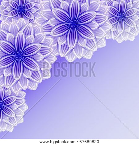 Beautiful Ornamental Background With Violet Flowers