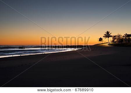 Sunrise at Rainbow Bay Beach