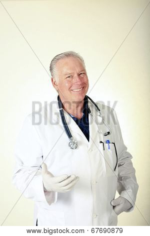 A friendly male Doctor, Surgeon or Health Care Professional. The Perfect image for all your Middle Aged Professional Doctor Images