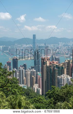 HONGKONG -SEPTEMBER 8 2013:modern building, hongkong