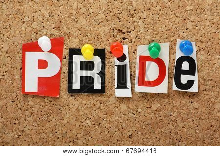 The word Pride