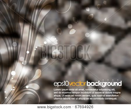 eps10 vector photo realistic wall of rock background
