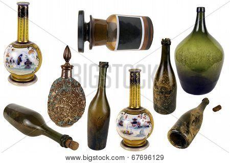 Antiquarian Glass Bottle