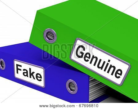 Genuine Fake Indicates Authentic Guaranteed And True
