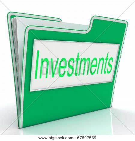 Investments File Means Roi Organization And Folder