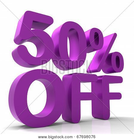 Fifty Percent Off Indicates Closeout Save And Clearance
