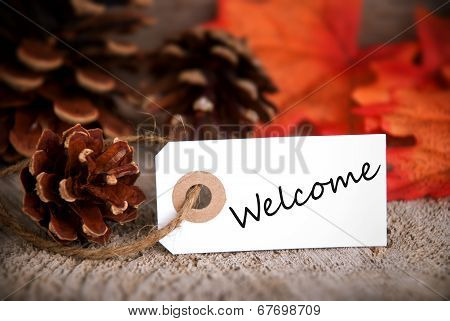Fall Label With Welcome