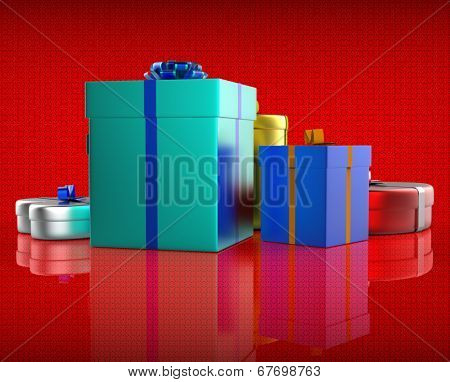 Celebration Giftbox Indicates Joy Giftboxes And Occasion