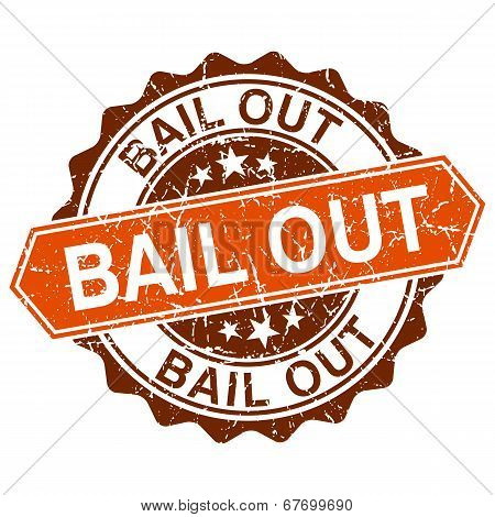 Bail Out Grungy Stamp Isolated On White Background