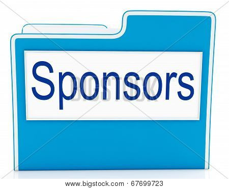 File Sponsors Represents Promotes Supporter And Promoter