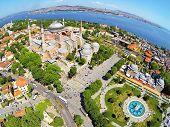 image of paysage  - Visitors enjoying in front of Hagia Sophia Museum in Istanbul Turkey - JPG