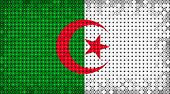 stock photo of algiers  - Flag of Algeria lighting on LED display - JPG