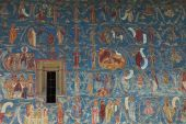 picture of suceava  - Wall detail at Voronet Monastery Moldavia Romania - JPG