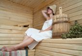 Girl In Sauna