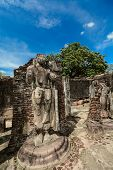 image of polonnaruwa  - Historical Polonnaruwa capital city ruins in Srilanka - JPG