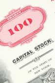 stock photo of debenture  - 100 shares - JPG