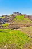 foto of apennines  - view of famous Pietra di Bismantova in Reggio Emilia Apennines  - JPG