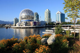 picture of geodesic  - Science World Geodesic Dome In Vancouver  - JPG