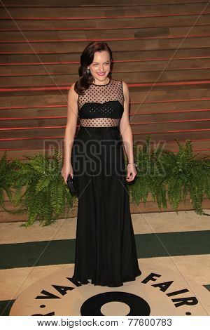 LOS ANGELES - MAR 2:  Elisabeth Moss at the 2014 Vanity Fair Oscar Party at the Sunset Boulevard on March 2, 2014 in West Hollywood, CA