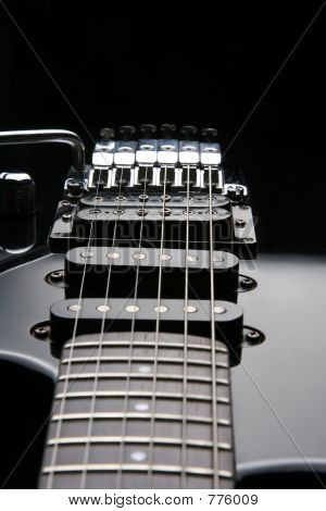 Part of an electric guitar