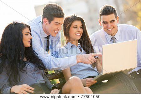Business Team On A Break