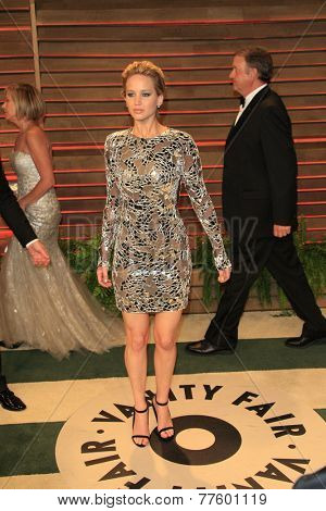 LOS ANGELES - MAR 2:  Jennifer Lawrence at the 2014 Vanity Fair Oscar Party at the Sunset Boulevard on March 2, 2014 in West Hollywood, CA