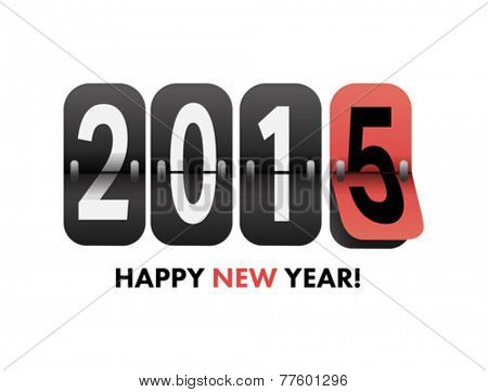 Digitally generated 2015 happy new year vector