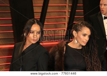 LOS ANGELES - MAR 2:  Zoe Kravitz, Lisa Bonet at the 2014 Vanity Fair Oscar Party at the Sunset Boulevard on March 2, 2014 in West Hollywood, CA