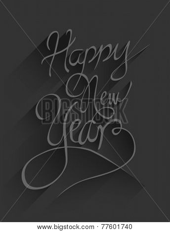 Digitally generated Happy new year vector in embossed black
